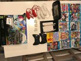 WiiU console with lots of extras plus games