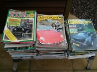 HUGE COLLECTION OF 147 RETRO CAR & MOTORING MAGAZINES - 1973-97 – 29 DIFFERENT TITLES