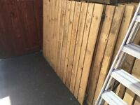 40ft solid wood fence with posts x 4ft high
