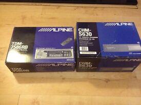 Alpine cassette head unit and cd changer Brand new!