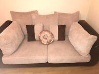 Brown/beige material sofa
