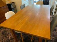 Free - Real Wood Dining table with 2 x extending leaves