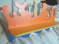 Kids colourful floating Shelf Marine Design