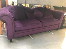 Purple 3 Seater Sofa