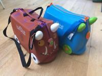 2 x Trunki travel cases Grufallo