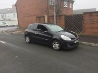 Renault Clio New shape 08 reg in black ,low insurance group ,11 months MOT ,px options available
