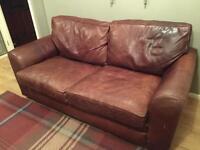 HALO distressed leather sofa