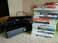 Xbox 360, kinect, lots of games, 2 controllers, all cables