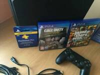 Ps4 console and games.