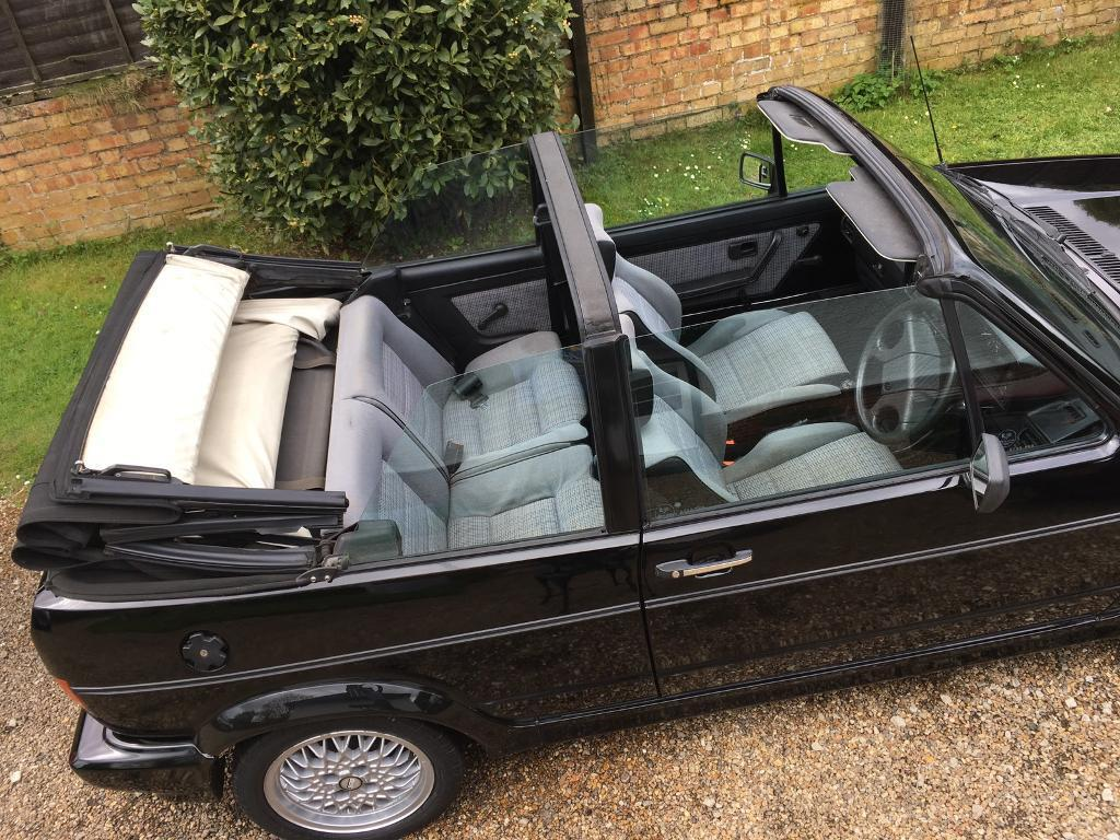 vw golf mk1 cabriolet 1 8 karmann clipper 1989 black. Black Bedroom Furniture Sets. Home Design Ideas