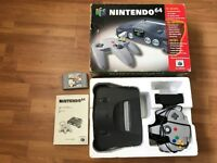N64 Nintendo 64 boxed console & game