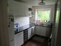 Beautiful, spacious, ff 2-bedroom apartment in quiet central location close to river. Garage.