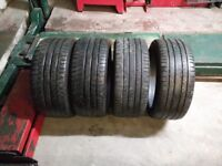 Tyres 245/40/18 good condition