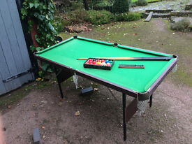 Pool / Snooker Table, 6ft, folding legs, excellent condition