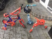 Child's bike, scooter and skute bug