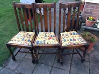 3x vintage chairs