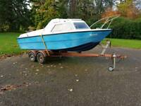 Boat with Honda outboard