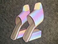 Pink Reflective Mules size 7