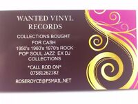 WANTED VINYL RECORD COLLECTIONS CASH PAID