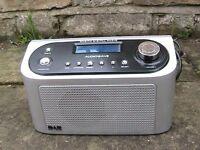 Mono Audiowave DAB/FM Digital Radio, mains or 6 AA batteries