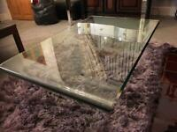 coffee table all glass