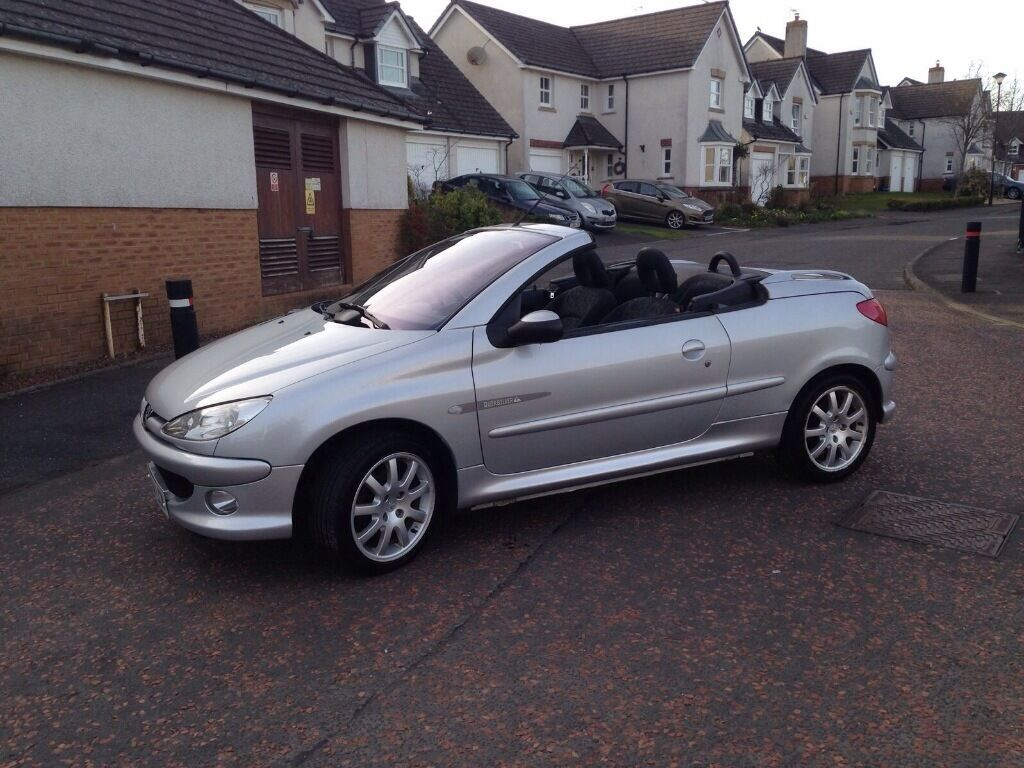 peugeot 206 cc quicksilver excellent condition in. Black Bedroom Furniture Sets. Home Design Ideas