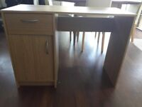 Medium Work/ Office Wooden Desk with Storage Drawer and Cupboard plus FREE Desk Chair