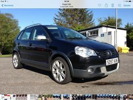 2007 VW Polo Dune. 1.4TDI. Met Black, BBS alloys, sport interior, service history, drilled discs.