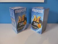 maxell e-240 m vhs tapes 4hrs each
