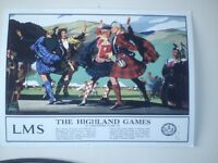 big size scotish rail wall posters rare, wintage l.n.e.r