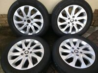 "16"" GENUINE SEAT LEON MK3 2016 ALLOYS EXCELLENT 6mm PREMIUM TYRES 5x112 WHEELS A3 GOLF CADDY OCTAVIA"