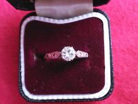 18 CT GOLD AND PLATINUM .50 DIAMOND RING SIZE N