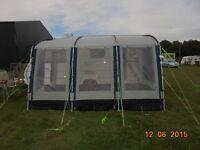 kampa 390 extra large porch awning,390cmx250cms,rarely used,£195