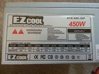 Power Supply (PSU) EZCool 450 Watt for desktop computer, VGC