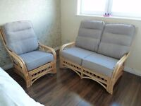 Conservatory Furniture - 2 Seater Sofa and Armchair - Reduced!