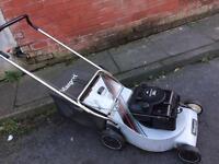 Masport petrol lawn mower with alloy deck