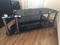 "Black glass tv stand 55"" wide"