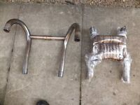 BMW R80 1984 Exhaust Down-pipes and Collector Box