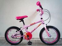 """(2138) 16"""" 9"""" APOLLO ROXIE Girls Kids Childs Bike Bicycle; Age: 4-7; Height:110-125 cm; PINK"""