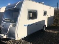 Bailey ranger 510/ 4 berth 2009 Cassette toilet and shower oven hob and grill three way fri