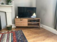 Oak-Effect TV Stand and Sideboard