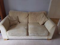 Harvey's 3 piece fabruc suite. Beige FREE