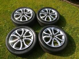 "17"" Mercedes C class ""Sport"" Alloy wheels with Continental Tyres"