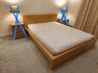 Ikea malm double bed + mattress ( like new )