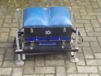 fishing preston innovation seat box, used collect only