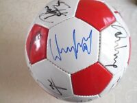 SIGNED ENGLAND FOOTBALL IN DISPLAY CASE