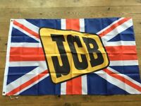 JCB 3c 3cx 4c 4cx sitemaster fastrac workshop flag banner