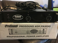 PRO SOUND 400 POWER AMP FOR ONLY £50