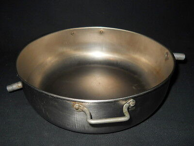 Custom 8 Stainless Steel Bowl W Handles 9.5mm Od Top Inlet Bottom Outlet