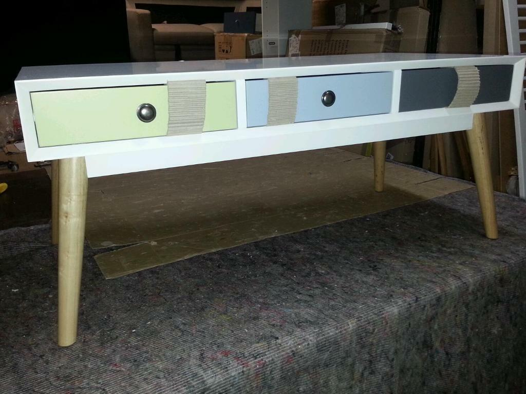 A brand new very slight seconds 3 drawer retro style coffee table a brand new very slight seconds 3 drawer retro style coffee table geotapseo Choice Image
